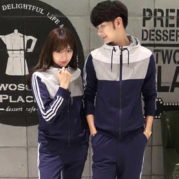 情侣装秋装新款韩版套头卫衣秋季长袖外套男女运动学生班服潮