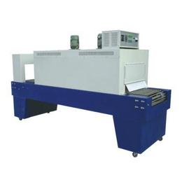 济南工厂特供PE膜5540袖口式玻璃水托辊半自动套膜收缩机