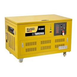 翰丝12KW低噪音移动式汽油发电机组