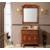 简欧式浴室柜组合 红橡木仿古 落地式雕花洗漱台缩略图3