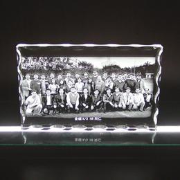 毕业周年礼品 同学聚会纪念品 相片内雕 内雕礼品定制