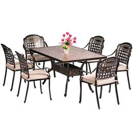 阳台桌椅套件休闲家具 铸铝户外桌椅 别墅花园桌椅 绿森源户外