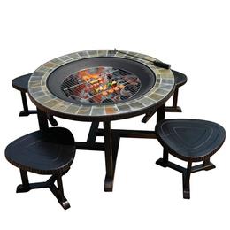 室外花园桌椅 铝制户外烧烤专用桌 高档桌椅组合 绿森源户外
