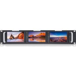 富威德T51三联监视器 广播级5寸监视器机柜式监视器