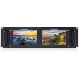 富威德D71 7寸3RU双联广播级机柜视频监视器IPS全视角