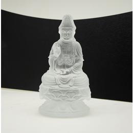 正坐观音菩萨琉璃佛像 广州深圳琉璃佛像生产厂家