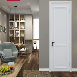 简欧卧室门 实木复合木门 油漆套装定制门