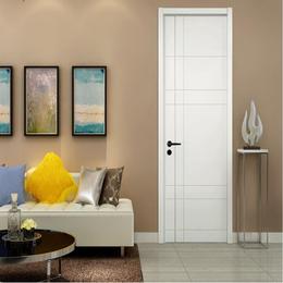 简约室内门卧室木门 油漆套装门 定制木门白混油