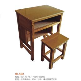 江西实木单人课桌椅厂家直销缩略图
