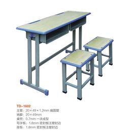 江西双柱双人课桌椅学生学校课桌  厂家直销