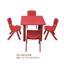幼儿正方形桌椅彩色园多人桌椅缩略图
