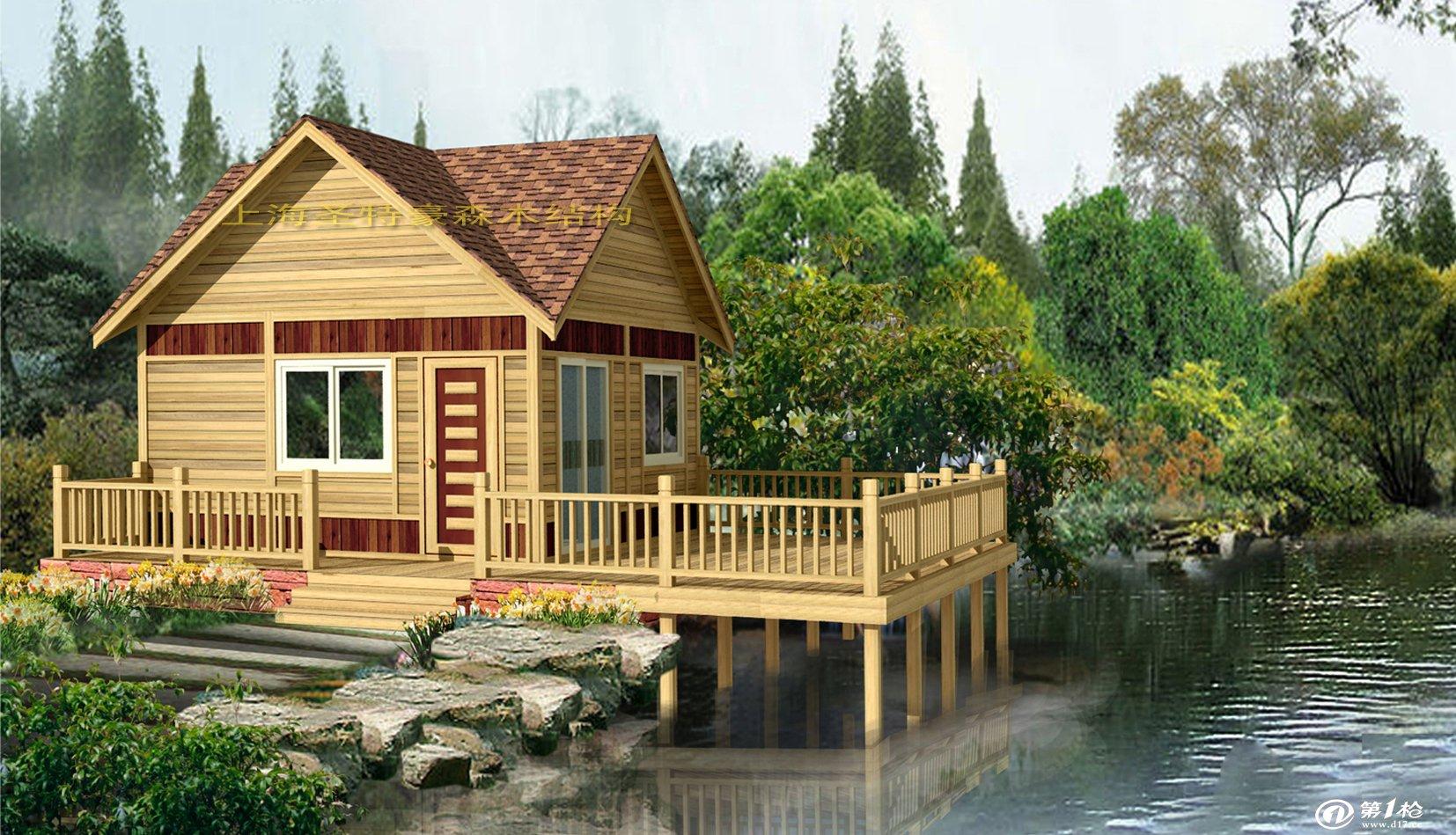 木屋的结构特点 1、施工期短,木结构房屋的施工期大约是传统房屋的1/2,为开发商提供了最快的资金回笼时间。传统房屋的施工期是在6-10个月,木结构的施工期是3-4个月,完工时传统房屋是毛坯房,而木结构完工时是精装修的马上可入住的家。1、施工期短,木结构房屋的施工期大约是传统房屋的1/2,为开发商提供了最快的资金回笼时间。传统房屋的施工期是在6-10个月,木结构的施工期是3-4个月,完工时传统房屋是毛坯房,而木结构完工时是精装修的马上可入住的家。 2、不怕火灾,木材具炭化效应,遇火灾时,木表面会形成炭化层
