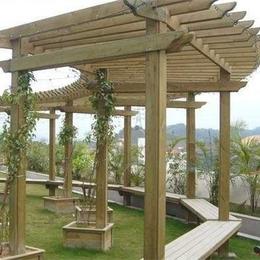 高端防腐木的廊架系列