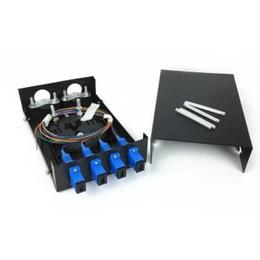 电信级满配4口SC单模光纤终端盒光缆熔接2进4芯法兰尾纤