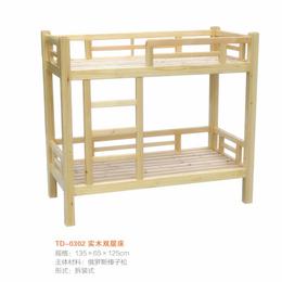 江西 实木双人床 幼儿园床