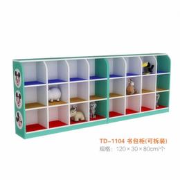 幼儿园实木彩色书包柜缩略图