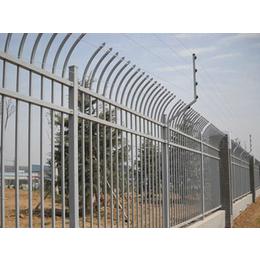 网艺锌钢新型护栏D型白蓝黑三色组装单向防攀爬护栏