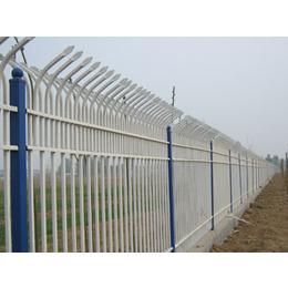 网艺锌钢新型护栏E型白蓝黑三色组装双向防攀爬护栏