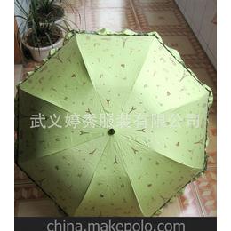 厂家直销遮阳伞晴雨伞单色印刷带花边阿波罗伞架拱形防紫外线隔热