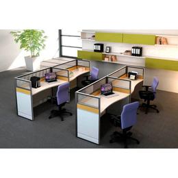 事业单位简约职员双人并排胶版办公桌椅