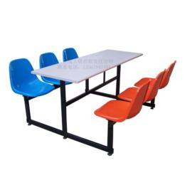 学校员工食堂6人餐桌椅职工餐桌