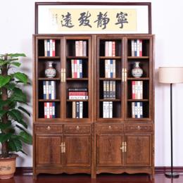 现代实木书柜书房缩略图