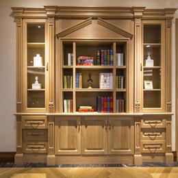 实木整体书柜定制缩略图