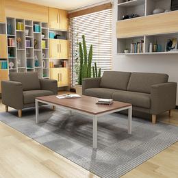 办公沙发简约会客接待商务布艺三人位沙发办公室北欧沙发茶几组合