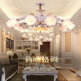 欧式卧室水晶灯具田园餐厅吊灯锌合金客厅吊灯缩略图