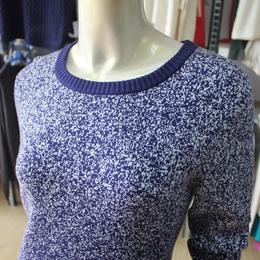 大朗毛衣工厂现款贴牌加工-雪花点毛衣套头衫女