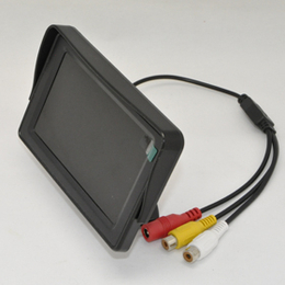 车载液晶倒车显示器4.3寸液晶监视器带遮阳盖