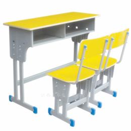 双人课桌椅 学校培训班课桌