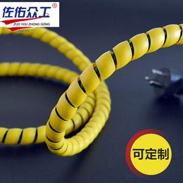 低价实惠 黑色液压螺旋胶管保护套 机械耐磨高压水管护套