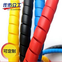 新品批发 黑色高压螺旋胶管保护套 机械液压油管耐磨螺纹保护套