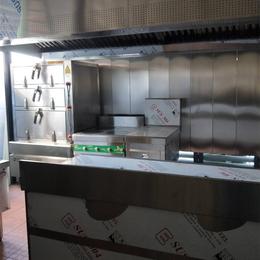 商用食堂三门蒸柜连炉缩略图
