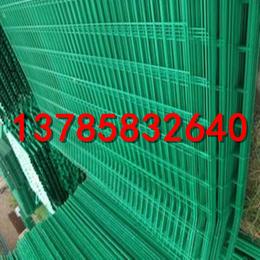 油田四周防护网  绿色护栏网   便宜的双边护栏网