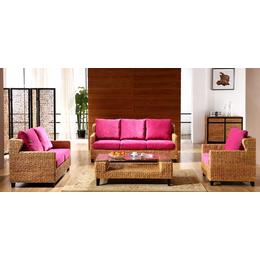 供应厂家直销1003 室内真藤椅沙发五件套休闲藤艺藤编沙发