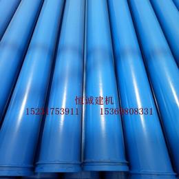 沧州恒诚牌3米无缝低压地泵管砼泵管管径125厂家价格