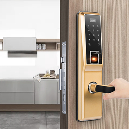 指纹锁厂家直销诺克威A61直板式家居指纹密码锁