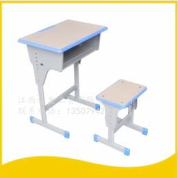 学生课桌椅单人单柱课桌升降课桌椅