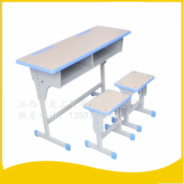 学生课桌椅双人单柱课桌  升降课桌椅 缩略图