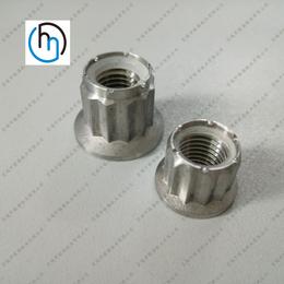 钛合金法兰尼龙锁紧螺母法兰面锁紧螺母专业批发定制钛螺母