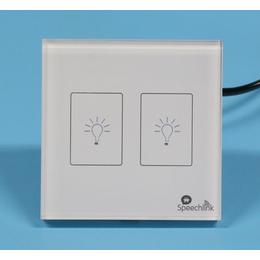 上海后界Speechlink语音智能家居供应二路灯光开关面板