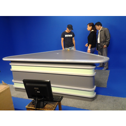 供应演播室播音桌 广播桌颜色尺寸可定制厂家直销