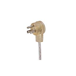 透明圆头美规弯头三插AC电源线 三芯插头美标电源线