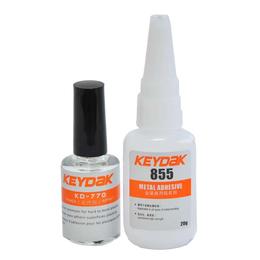 粘金属胶水 金属粘接专用快干胶 不锈钢粘塑料胶水KD-855
