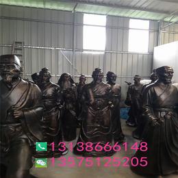 玻璃钢张仲景人像古代10名医半身塑像树脂铸铜站像医院雕塑摆设