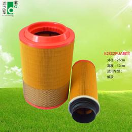 佛山滤之圣过滤器K2332PU 空压机塑料机 除尘滤芯滤筒