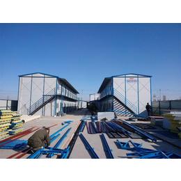 焊接式复合板岩棉防火彩钢活动板房 工地保暖焊接式防风