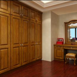 美式红橡实木衣服柜子